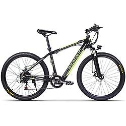 RICH BIT TP800 17 * 26 pulgadas Bicicleta eléctrica eléctrica de montaña EBike 250 vatios 36V marco en la batería Shimano 7 Engranajes Freno mecánico de apagado del disco