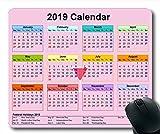 Yanteng 2019 Tapis de Souris Calendrier, Calendrier Scolaire Tapis de Souris de Jeu, planificateur de Calendrier 2019 avec détails de Vacances...