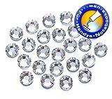 100 Stück Swarovski® Kristalle 2058 KEIN Hotfix, Crystal, SS6 (Ø ca. 2 mm), Strasssteine zum Aufkleben