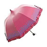 Folding umbrellas Umbrella sunscreen princess umbrella lace pagoda umbrella folding sunny umbrella ( Color : #2 )