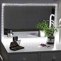 LED Spiegelleuchte,Schminktisch Beleuchtung Kit,6000 Kelvin Neutralweiß Make  Up LED Licht Mit Dimmer