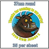 35 x Gruffalo Personalised Party Bag Thank You For Coming Stickers