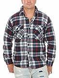 Fashion Herren Thermohemd Fleecehemd Arbeitshemd ID524, Größe:XXL;Farbe:Blau_2