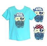 s.Oliver Jungen kurzarm Shirt / T-Shirt mit Pirat Motiv aus Wendepailletten Größe 92-140 in türkis 6143 68.706.32.6993