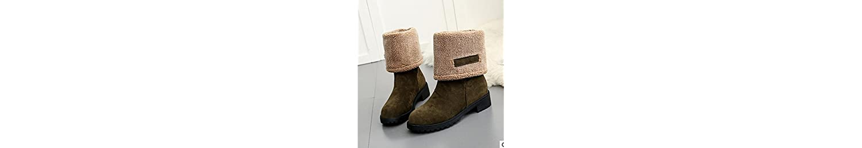 ZHZNVX HSXZ Zapatos de Mujer Otoño Invierno PU Confort Botas Chunky Talón Puntera Redonda Rodilla Botas Altas... -