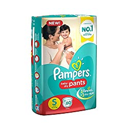 Pampers Medium And Small Size Diapers Pants (Small)