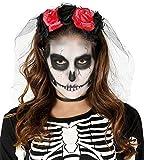 Guirca Rudy Diadema Rose Halloween Mujer, Color Rojo/Negro, 1