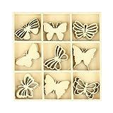 27Mini sagome Farfalla in legno lordo–Sagome legno