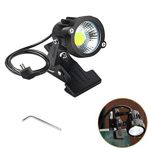 Onerbuy 1 stücke LED Clip auf Licht Im Freien Wasserdicht Schild Tafel Beleuchtung Einstellbare Schreibtisch Stehen Lampe Arm mit Netzstecker (Clip- kaltes Weiß)