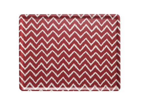 Platex 104030074S Plateau Slim Décor Twist Stratifié Rouge 40 x 30 x 0,5 cm