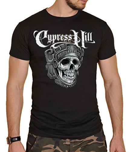Cypress Hill Herren T-Shirt Schwarz Schwarz Gr. S, Schwarz (Shirt Herren Cypress)