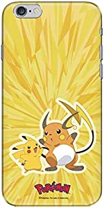 The Racoon Lean printed designer hard back mobile phone case cover for Apple Iphone 6 Plus/6s Plus. (pikachu an)