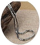 KnSam Schmuck 925 Silber Kette Ohne Anhänger Herren Damen Halskette als Geschenk für Mann Frau, Venezianierkette Länge 55cm