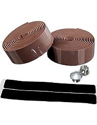 kiivi [cinta de manillar de corcho] Wrap bicicleta de carretera Racer ligero bar con cinta Fin Enchufes y–Tiras autoadhesivas, marrón