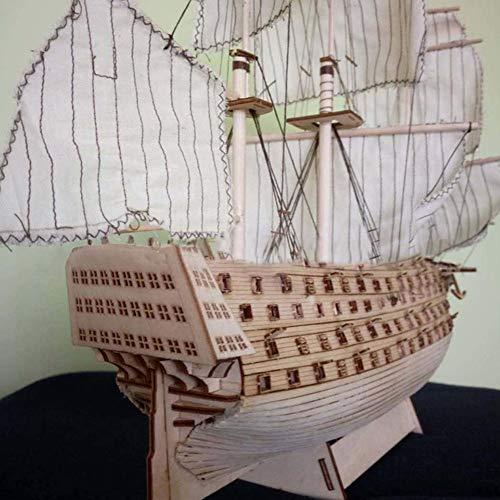 taluoahc Römisches DIY Holz montiert Victory Royal Navy Schiff Segelboot Modellierung Spielzeug Dekoration -