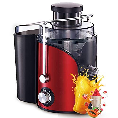 WFF Exprimidor doméstico, separación automática de residuos de Frutas y Verduras, máquina Multifuncional de Jugo de Frutas Fritas, exprimidor de Frutas pequeñas,Rojo,Cm
