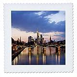 3dRose qs_52350_1 Frankfurt Tagesdecke, quadratisch, 25,4 x
