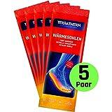 TerraTherm Wärmesohlen für Schuhe - 5 Paar M, Schuhwärmer Einlagen, 100% natürliche Wärme, Fußwärmer Sohlen als auch Wärmeeinlagen für Schuhe, für 8h warme Füße, Sohlenwärmer M