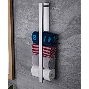 Ruicer Handtuchhalter OhneBohren Gästehandtuchhalter Selbstklebend Handtuchstange für Badezimmer Edelstahl 55CM