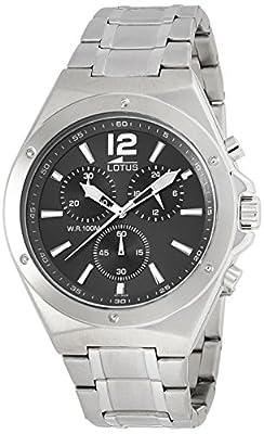 Lotus 10118/6 - Reloj de cuarzo para hombre, con correa de acero inoxidable, color plateado de Lotus