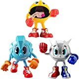 PacMan - Figuras Tripack Aventura: PacMan 4, Ice Pac, Metal Pac (Bandai...