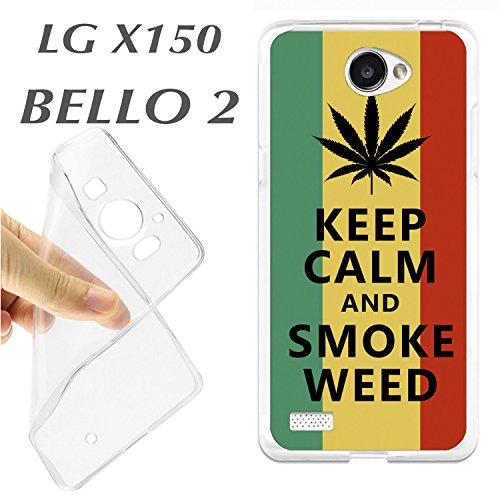 Schutzhülle + Displayschutz Gehärtetes Glas LG X 150x150Bello 2Schutzhülle Tasche K178Keep Calm...