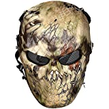 iisport® Softair Maske Totenkopf Schädel voll Schutzmaske Militär Paintball Maske Ghost Skull