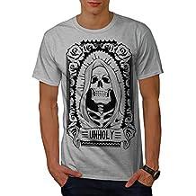 wellcoda unheilig Rose Tod Schädel Männer S-5XL T-Shirt
