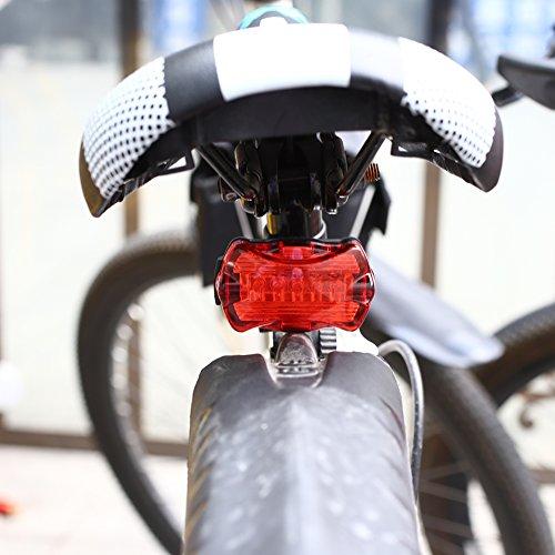 Hanbaili Fahrrad-vorderes Hauptlicht und hintere Lampe Wasserdichte schnelle Freigabe-einfache Installation für einen Kreislauf durchmachende Sicherheitsfackel