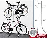 WENKO Fahrradständer DUO - Stahl - MIT oder OHNE Bohren - 220 x 77 x 42,5 cm (HxBxT) - Fahrradhalter