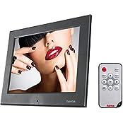 Hama Digitaler Bilderrahmen  Slimline Basic  (20,3 cm (8 Zoll), SD/SDHC/MMC-Kartenslot, USB 2.0, elektronischer Bilderrahmen mit Fernbedienung, Zufallswiedergabe) schwarz