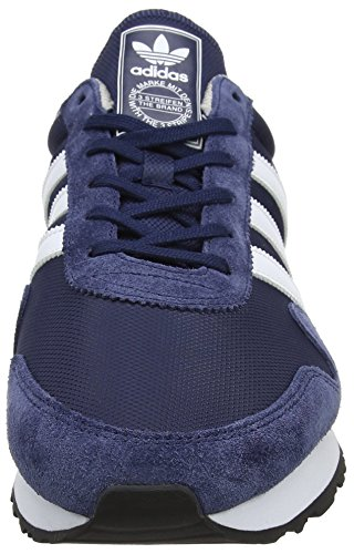 adidas - Haven, Scarpe basse Unisex – Adulto Blau (Collegiate Navy/Footwear White/Clear Granite)