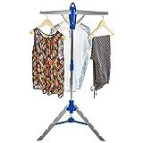 Andrew James Wäscheständer | Klappbarer und Freistehender Trockenständer für im Haus | Platz für 30 Kleiderbügel | Zusammenklappbar für Einfache Lagerung