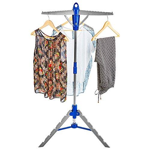 Andrew James Wäscheständer   Klappbarer und Freistehender Trockenständer für im Haus   Platz für 30 Kleiderbügel   Zusammenklappbar für Einfache Lagerung - Freistehender Wäscheständer