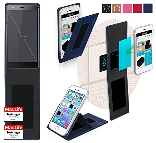 reboon Hülle für Oukitel U13 Tasche Cover Case Bumper | Blau | Testsieger