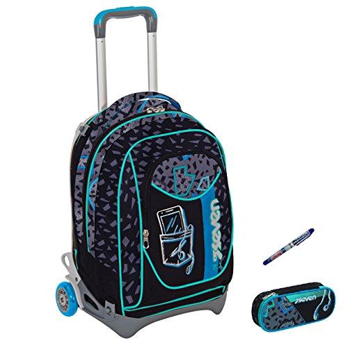 trolley-seven-new-jack-penna-portapenne-shift-nero-azzurro-sganciabile-e-lavabile-scuola-e-viaggio-n