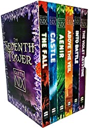 Garth Nix The Seventh Tower Collection 6 Books Box Set (Aenir, Castle, The Fall, Into Battle, Above the Veil, The Violet Keystone)