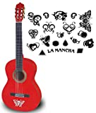 La Mancha Glacial WRM Konzert-Gitarre 4/4 winered metallic