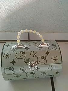 Hello kitty lunch box-malette plate (rouge/noir/blanc)