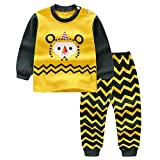Babykleidung Shopaholic0709 Baby Langarm (6M-3T) Kinder Langarm Cartoon Roboter Zweiteiler Kinderkleidung Cartoon Print Hoodie Tops Shirt + Hosen Outfits Set