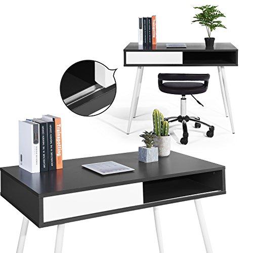 Melamin-klapptisch (House in a box Schreibtisch Schreibtisch Schreibtisch Schreibtisch Schreibtisch Schreibtisch Schiebetür Aufbewahrung Melamin Spanplatte Metall Anthrazit Grau Weiß)