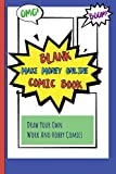 Blank Make Money Online Comic Book: Draw Your Own Work And Hobby Comics Omg! Boom!