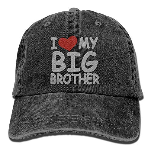 I Love My Big Brother Unisex Baseball Caps Denim Hats Cowboy Outdoor Big Love Ice Cream Bowl