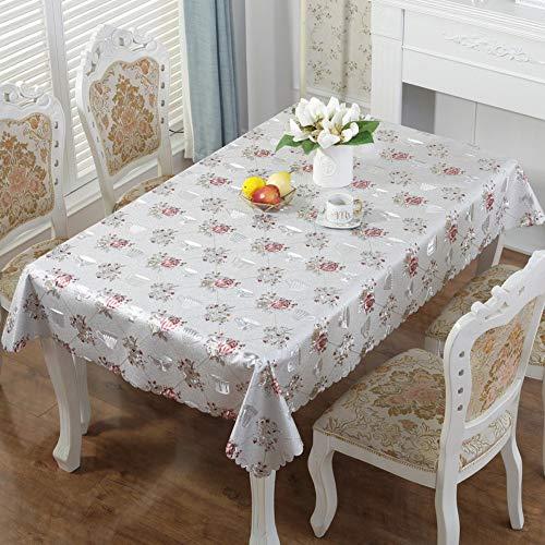 ZZHU Leicht zu reinigende und abwischbare dekorative Party Tischdecke PVC modern, 140x200cm