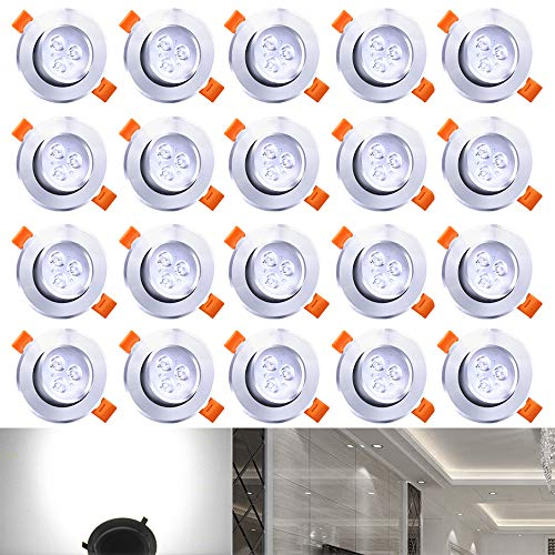 Hengda® 20X LED Downlight Focos Regulable con Giratorio Proyector Empotrable de 30...