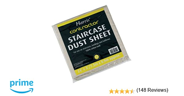 harris contractor 24 x 3ft staircase dust sheet amazoncouk diy u0026 tools