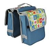 Fischer Kinder Gepäckträgertasche Tasche, blau, 4 x 28 x 35 cm, 7 Liter