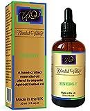 Aromaterapia Olio ENERGETICO - Oli Essenziali di Geranio e Arancio in Olio di Albicocca. Per Diffusore di Aromi o Brucia Essenze, per Rinvigorire la Mente e il Corpo e Alleviare la Stanchezza.
