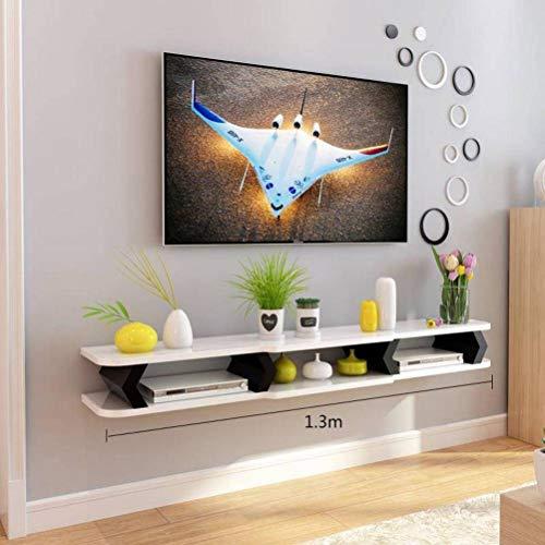 BinLZ Kreative Tv Hintergrund Wanddekoration Rahmen Trennwand Regal Wohnzimmer Moulding Rack Tv-Schrank Set-Top-Box, 1.3 m c 1,3 M-box
