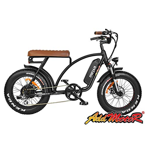 addmotor MOTAN Elektrofahrrad m-6020Zoll Fahrrad Reifen Räder mit 500W Motor 48V 10.4Ah Lithium-Akku Fahrrad Pneumatikschlauch elétrica E-Bike Neues Design 2018, Schwarz